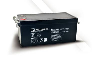 Q-Batteries AGM Deep Cycle 12V 275Ah - 12LC-260